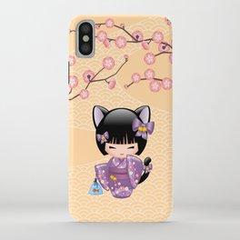 Japanese Neko Kokeshi Doll V2 iPhone Case