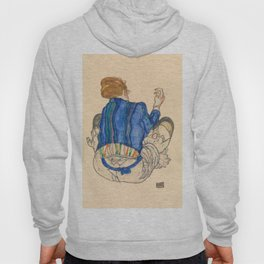 "Egon Schiele ""Seated Woman, Back View"" Hoody"