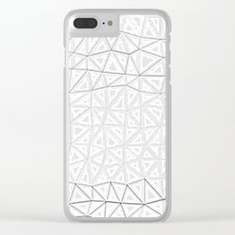 white polygon Clear iPhone Case