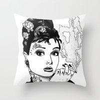 tiffany Throw Pillows featuring Tiffany by AdamWillis