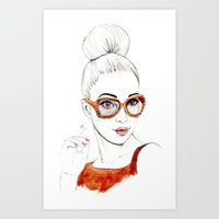 Beauty Portrait 2 Art Print