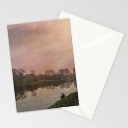 Fisherman (stylized watercolor) Stationery Cards