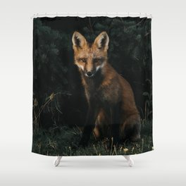 Foxing at me Shower Curtain