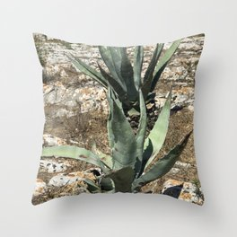 A capri plant Throw Pillow