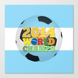 2014 World Champs Ball - Argentina Canvas Print