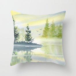 Morning Serenade  Throw Pillow
