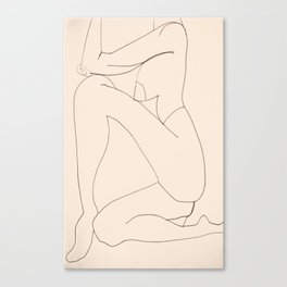 Seated Pose Canvas Print