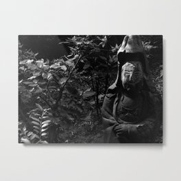 Figure in the forest Metal Print