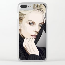 """Charlize Theron """"Rotoscoping"""" Clear iPhone Case"""