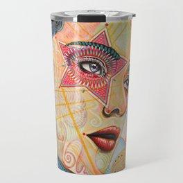 Abstract Art Female Women Portrait Painting ...Honestly Speaking Travel Mug
