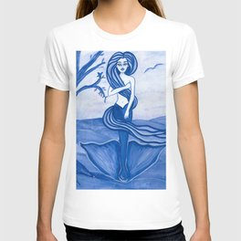 Astrology Zodiac Mermaid Virgo Watercolor Fantasy Art by Laurie Leigh T-shirt