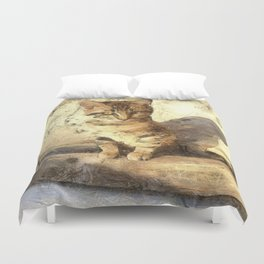 All Cats Are Black In The Dark Duvet Cover