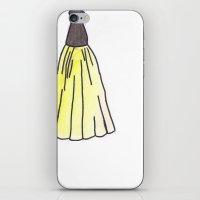 hufflepuff iPhone & iPod Skins featuring Hufflepuff Dress by AlwaysRiverose