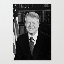 President Jimmy Carter Canvas Print