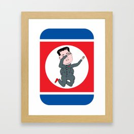 North Korea Dabbing Framed Art Print