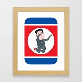 North Korea Dabbing Framed Art Print