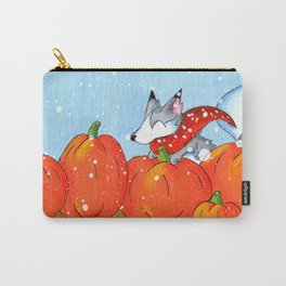 Wolf in the Pumpkin Patch Carry-All Pouch