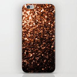 Beautiful Bronze Orange Brown glitters sparkles iPhone Skin