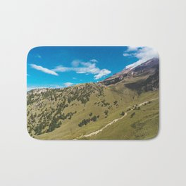 View Across the Valley Hiking up Iztaccihutal Volcano, Mexico City Bath Mat