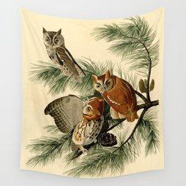 Little Screech Owl Wall Tapestry