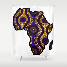 Purple and Gold Africa map Shower Curtain