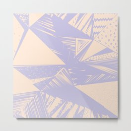 Modern lilac ivory violet geometrical shapes patterns Metal Print