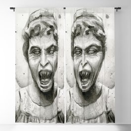 Weeping Angel Watercolor Blackout Curtain