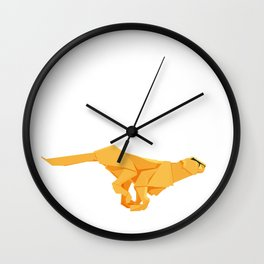 Origami Cheetah Wall Clock