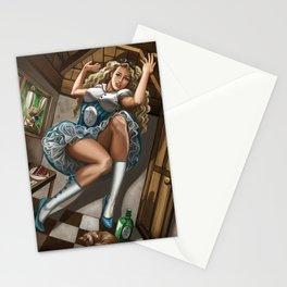 Steampunk Alice in Wonderland Drink Me Stationery Cards