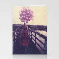 baloon Stationery Cards featuring Baloon Girl by Jenn