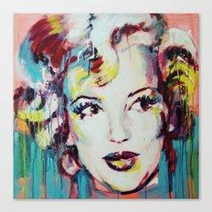 Merylin Monroe cinema and pop culture icon - portrait Canvas Print