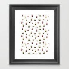 pink terrariums Framed Art Print