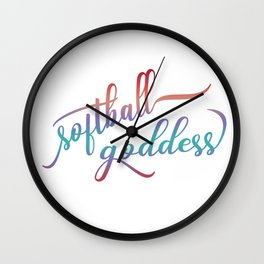 Softball Goddess Summer Ombre Wall Clock