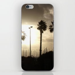 Palm trees & boats iPhone Skin