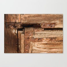 LOST PLACES - dusty rusty hinge Canvas Print