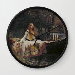 John William Waterhouse The Lady Of Shallot Original Painting Wall Clock