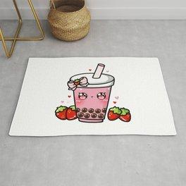 Strawberry Bubble Tea Rug
