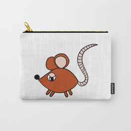 Drawn by hand a Friendly little mouse for children and adults Carry-All Pouch