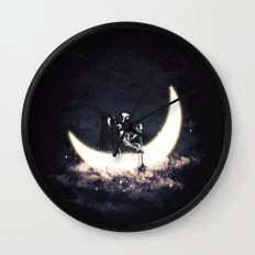 Moon Sailing Wall Clock