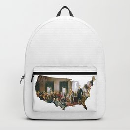 USA MAP The Signing of the Constitution of the United States Backpack