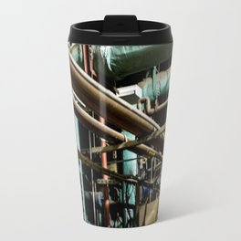 Blurry Pipes Travel Mug