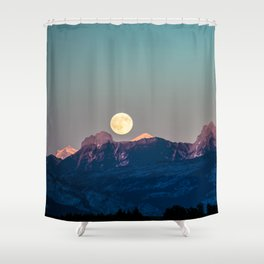 The Rising Moon Shower Curtain