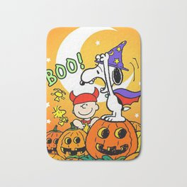 Snoopy Boo Halloween Bath Mat