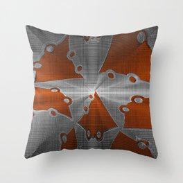 Metal Seperation Throw Pillow