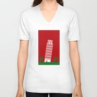 italy V-neck T-shirts featuring ITALY by Marcus Wild