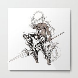 Muu Alexius Djinn Equip Barbatos 4 Metal Print