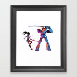 CheckiO anime Framed Art Print