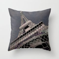 La Tour Eiffel Throw Pillow