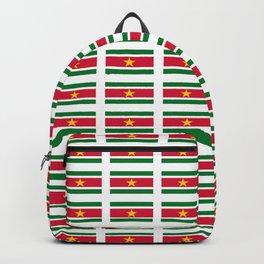 Flag of suriname -suriname,surinam,surinamese,Surinaamse,surinamés, Paramaribo. Backpack