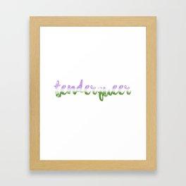 tenderqueer <3 Framed Art Print